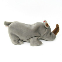 "Spike The Rhinocerous New 7"" Plush Stuffed Beanie Rhino Animal TY Tags R... - $14.76"