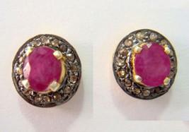 Antique Vintage Look 0.60Ct Rose Cut Diamond Sterling Silver Earring CSJ... - $2.984,96 MXN
