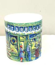 Starbucks Barista 2000 Christmas Holiday Market Scene Large Coffee Mug - $13.33