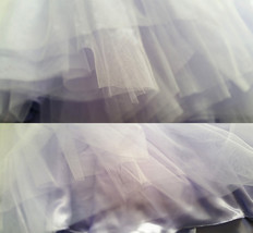 Flower Girl Tutu Skirts Light Purple Girl Skirts for Wedding image 4