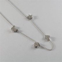 925 RHODIUM SILVER JACK&CO NECKLACE STAR BUTTERFLY HEART CLOVER MADE IN ITALY image 2