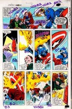 1980's Gene Colan Marvel Comics Captain America original color guide art... - $99.50