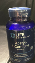 Life Extension Acetyl-L-Carnitine 500 mg 100 Vegetarian Capsules EXP 03/2022 B11 - $18.97