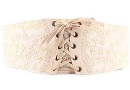 Chic All-Match Women Corset Belt Lace&Chiffon Belt Waist Belt,Off-White
