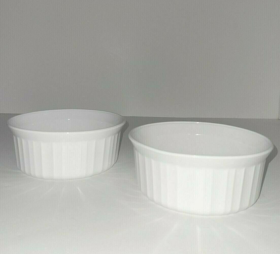 Set of 2 Corning Ware FRENCH WHITE F-16-B 500ML Casserole Serving Dishes - $19.79