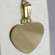18K YELLOW GOLD HEART, PHOTO & TEXT ENGRAVED PERSONALIZED PENDANT 22 MM, MEDAL image 3