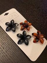 4 PACK - SOPHI HAIR CLIPS - BLACK/BROWN FLOWER HAIR CLIPS - FREE SHIPPING - €5,27 EUR