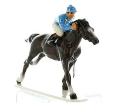Hagen Renaker Specialty Horse with Jockey Racing Ceramic Figurine image 9