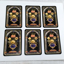 6 Flowers in Vase Playing Cards by Caspari for Crafting, Re-purpose, Up-cycle, V image 1