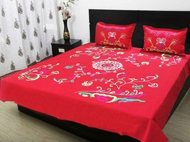 Double bedsheet with 2 pillow cloth 220 x 250 C... - $51.00