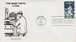 Babe Ruth 1983 First Day Cover  with Cachet UNADDRESSED-FREE SHIPPING - $1.49