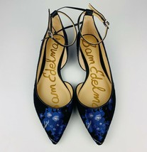 BRAND NEW!!! (size6.5) SAM EDELMAN Radley Blue Floral Flats!!! (black/blue) - $38.69