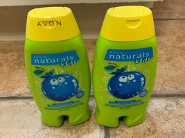 Avon Naturals Kids Body Wash Bubble Bath Tear Free Bursting Berry Lot 2 New - $17.06