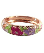 UJOY Colorful Cloisonne Handcraft Bracelet Bangle Rhinestone Spring Hing... - $16.23