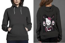 Hello Kitty I love punk Classic Hoodie Women Black - $29.80