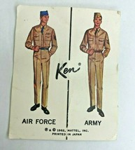 Ken Doll Army Air Force #797 Insert Card Poster VHTF Vintage 1962 Japan - $14.84