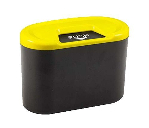 PANDA SUPERSTORE Creative Car Trash Cans/Green Box/Storage Box, Yellow