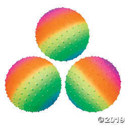 Primary image for Rainbow Spike Balls - 8""