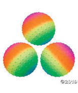 "Rainbow Spike Balls - 8"" - $33.73"