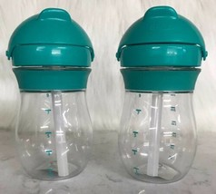 OXO Tot Transitions Straw Cup Teal 9 oz Pack of 2 no packaging pls see p... - $19.31
