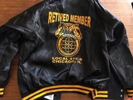 VINTAGE UAW United Auto Workers Local 415 Satin Jacket Coat USA MADE L New! - $28.49