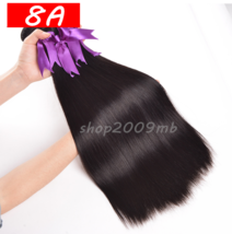 8A Peruvian Straight Hair Bundles Non Remy Human Hair Extensions Double ... - $58.90