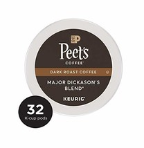 Peet's Coffee Major Dickason's Blend Dark Roast Coffee K-Cup Coffee Pods 32 Coun - $14.06