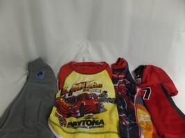 BOYS SZ 4 NASCAR 2PC PJS, GYMBOREE JACKET, ATHLETIC WORKS JERSEY, SPIDER... - $23.08