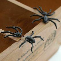 Women Halloween Black Spider Charm Ear Stud Earrings - One Pair image 8