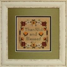 Thankful And Blessed fall autumn cross stitch chart Stitches Through Time  - $9.00