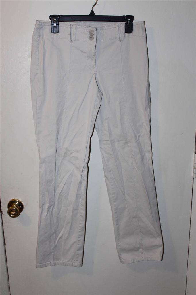 W8007 Womens ANN TAYLOR LOFT Tan Khaki Marisa Slim Cut CAPRIS Pants Slacks 4 - $14.50