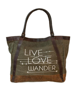 Live Love Wander Tote Bag Purse Valentines Day Gift - $56.38