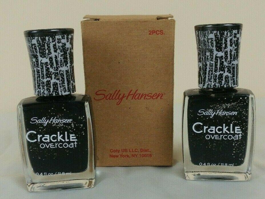 Sally Hansen #12 STAR BURST Crackle Overcoat Nail Polish NEW (Lot of 2)