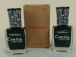 Sally Hansen #12 STAR BURST Crackle Overcoat Nail Polish NEW (Lot of 2) - $9.88