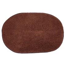 (coffee)40x60cm Bathroom Carpet Mat Soft Doormat Floor Rugs Oval Non-sli... - $20.00