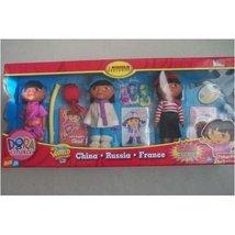 Dora the Explorer Set of 3 World Adventure Collectible Dolls - China, Ru... - $50.45