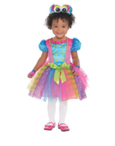 Lil Monster Toddler Halloween Costume Dress 2T NEW - $21.39