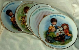Avon Mother's Day Plates (5) 1983-1990 Children Playing Decorated & Fired Canada - $11.39