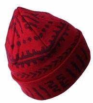 Asphalt Yacht Club Red Arcane Patch Cuff Beanie Skate Winter Hat AYC1410822 NWT image 2