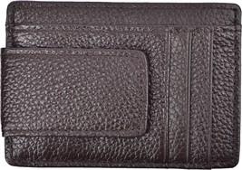 Woogwin Slim Wallet Men Rfid Mini Front Pocket Wallet Money Clip Genuine Leather - $24.54