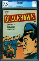 Blackhawk #27 CGC 7.5 1948- Death-Demons- Golden Age 2001004003 - $909.38