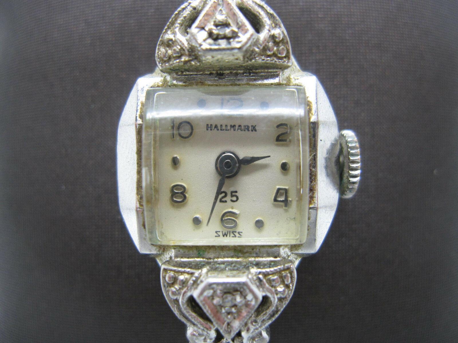 Vintage Women's Hallmark 25 Jewels 10k Rolled Gold Plated Hand Wind Watch image 7