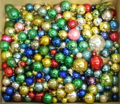 "175 Vintage Mini Glass Christmas Ornaments - 1/2"" to 1¾"" - $70.00"