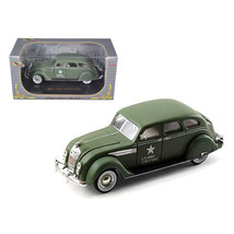 1936 Chrysler Airflow Army Green 1/32 Diecast Model Car by Signatrure Mo... - $27.79