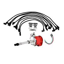 A-Team Performance HEI Distributor Red Cap w/SBC Under the Exhaust Spark Plug Wi image 1