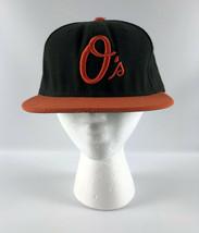 Baltimore Orioles Baseball Hat Black Orange New Era 59Fifty 2006-08 Size... - $24.74