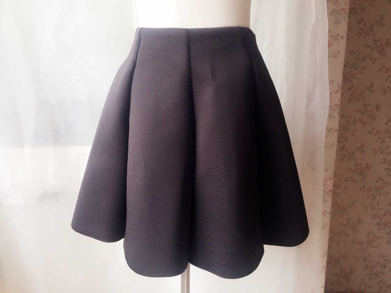 Women Girl Pleated Skirt Black Full Pleated A Line Short Skirts, many colors NWT