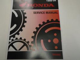 1988 1989 1990 1991 Honda TRX300FW TRX300 Fourtrax 4X4 Service Shop Manual New - $102.96