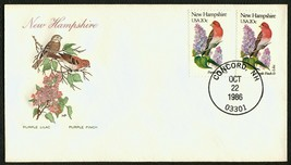 New Hampshire-Purple Lilac & Purple Finch, HF-Sealed Flap **ANY 4=FREE S... - $1.00