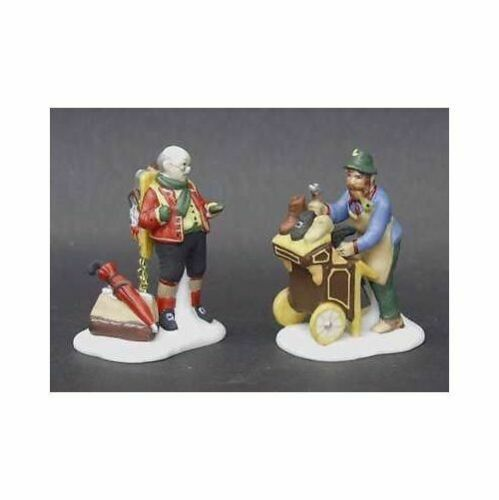 Primary image for Dept 56 Dickens Snow Village  Cobbler & Clock Peddler Set of 2 58394